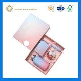 Rectángulos de regalo de empaquetado del papel cosmético de encargo barato de la alta calidad (con la bandeja cortada con tintas papel)