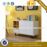Verre aluminium moderne Partition/station de travail de bureau en bois (HX-8N0621)