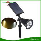 Indicatore luminoso decorativo alimentato solare impermeabile inserita/disinserita automatico della parete di paesaggio del riflettore solare esterno di illuminazione dei 7 LED