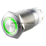 Ring Verlicht Roestvrij staal die de Elektrische Schakelaar van de AntiDrukknop van de Vandaal (l19-F-n-z1-s-r) sluiten