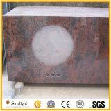 Cucina Polished personalizzata della pietra del granito del marmo del quarzo/contro parti superiori di vanità barra/della Tabella