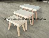 Kleines quadratisches Schemel-Holz in den Schuhen der Schemel-festen hölzernen Kinder (M-X3181)