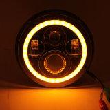 7 pouces 45W feux à LED avec anneau de halo blanc/orange clignotant projecteur pour Jeep Wrangler JK LJ Cj Hummer H1 H2 Harley Véhicules hors route