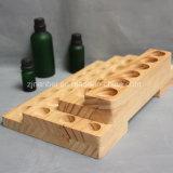 Las capas de 4 botella de aceite esencial de madera Soporte de pantalla
