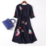 Personalizou o vestido com A - linha saia de Fshion das mulheres novas