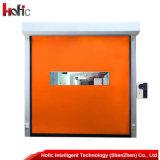 지퍼 에너지 절약 고속 PVC 자동 각자 복구 급속한 회전 문
