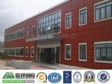 Edificio de oficinas ligero moderno de la estructura de acero