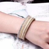 Bijou d'or de bracelet de femmes d'alliage punk de type