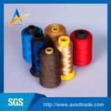 Hilo de coser hecho girar el 100% de la tela del bordado del poliester que sorprende para la materia textil