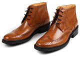 La manera de cuero de los hombres de la alta calidad anuda los zapatos