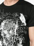 소매 인쇄 t-셔츠가 새로운 디자인 Mens에 의하여 누전한다
