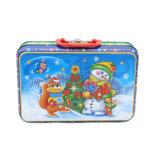 Estaño metálico el Almuerzo de Navidad Regalo Box