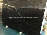 Schwarze Marquina Marmorsteinplatte für Fußboden/Bodenbelag/Treppe/Wand/Badezimmer-/Küche-Fliese/Badezimmer-/Wand-Fliese