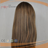 Um cabelo humano Kosher Judia de topo de seda Peruca (PPG-l-01218)