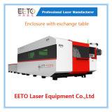Автомат для резки лазера волокна приложения 3000 ватт с таблицей обменом