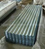 Placa de azotea galvanizada acanalada instalación fácil del hierro para Argelia