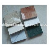mármol verdadero del espesor de 5m m con el panel de aluminio de la base de panal