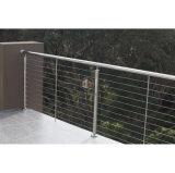 個人的な家の屋外のバルコニーの塀のステンレス鋼ケーブルの柵/金属の塀