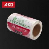 Etiquetas adhesivas de la talla BOPP del derretimiento caliente de encargo del trazador de líneas en el rodillo