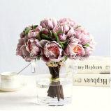 Conception OEM réalistes de pivoine artificielle, décoration maison pivoine Fleur artificielle