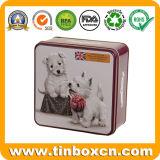 애완 동물 먹이 Strorage 상자를 위한 정연한 고양이 치료 금속 주석