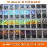 стикеры Hologram лазера 3D изготовленный на заказ с печатание Кодего Qr