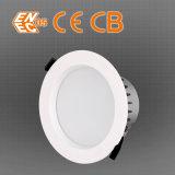 Pouce mince superbe de Dimmable CRI>80 10W 3 DEL Downlight avec des certificats de CB d'ENEC