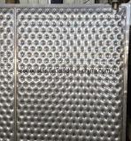 Plaque inoxidable de modèle gravée en relief par plaque de palier de soudure laser Pour l'échange thermique