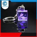 De beste 3D Herinneringen van de Giften van het Kristal van de Kwaliteit, graveren het Kristal Keychain, de Gegraveerde Zeer belangrijke Ketting van het Embleem van het Kristal met leiden