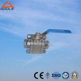 valvola a sfera d'acciaio forgiata ad alta pressione di galleggiamento 3PC (GQ61F)