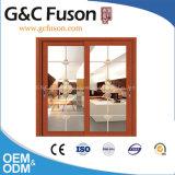 Puerta deslizante de aluminio de la partición de la oficina con las persianas