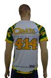 Design de moda padrão de costura Embrodiered Baseball Jersey para mulheres (B008)