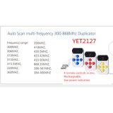 Control remoto universal Wireless Tranmitter Dupliccator resistente al agua, sin embargo2127