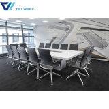 [ميتينغ تبل] [أفّيس فورنيتثر] مواصفة 12 شخص بيضاء طويلة [كنفرنس تبل] قاعة اجتماعات طاولة