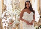 Cordão Completo Sweethart Mermaid Plus Size vestido de casamento
