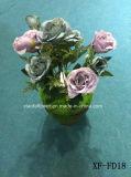 Fiore artificiale/di plastica/di seta Rosa Bush (XF-FD18)