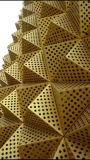 3D de la pared exterior de la Decoración Artística de aluminio Panel perforado