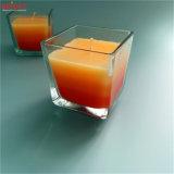Gradiente jarra de vidro transparente de três cores que exerçam a Vela Box