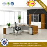 Escritorio de oficina de madera del negro de los muebles de oficinas del escritorio ejecutivo (HX-8NE026C)