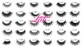 Gruesos ojos falsos latigazos Kit de Maquillaje 100% Real 3D Mink pestañas