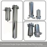 Singola fase 10 20 30 custodia di filtro dell'acqua dell'acciaio inossidabile della custodia di filtro dell'acqua da 40 pollici con il filtro da acqua dai 5 micron