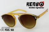 Óculos de sol ensolarados da forma da praia com frame Kp70203 da cor clara