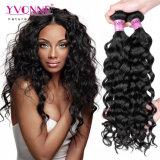 Enrollamiento italiano del color natural Weft peruano del pelo de la Virgen de Yvonne