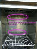 aço inoxidável vertical geladeira (porta de vidro) para cozinha ou restaurante