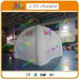 tente gonflable diagonale de 5m, blanc annonçant des tentes d'événement, tente campante extérieure gonflable