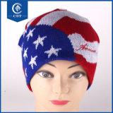 Производство спицы страны флага стиле Beanie трикотажные Red Hat