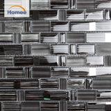 Mattonelle di mosaico di vetro nere dell'interno dipinte a mano di vendita calda