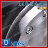 Didtek ha laminato la valvola a farfalla ad ingranaggi dell'acciaio inossidabile della guarnizione del disco