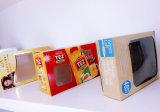 기계 (GK-1080T)를 접착제로 붙이는 주문품 Kraft 포장 상자 PVC Windows