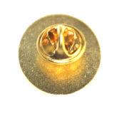 Emblema feito sob encomenda do Pin do ouro do metal do logotipo da fábrica relativa à promoção do ofício